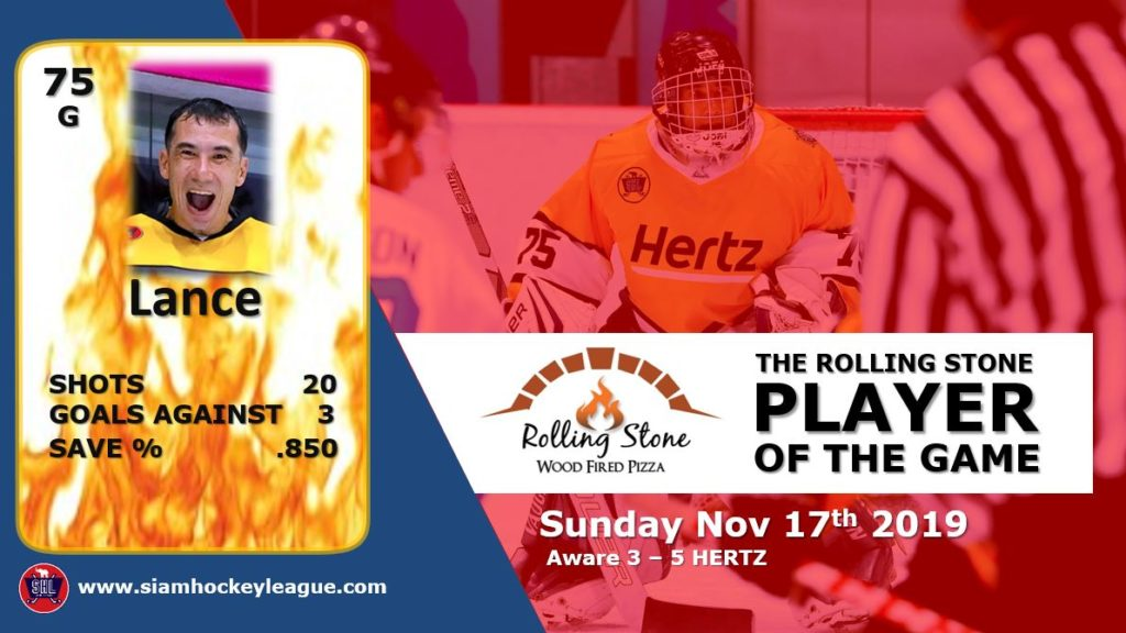 Rolling Stone Pizza Player of the Game Lance Parker